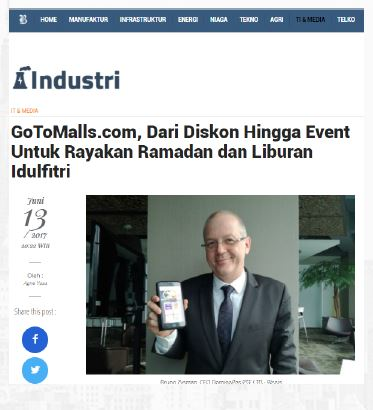 Gotomalls featured in Harian Bisnis Indonesia